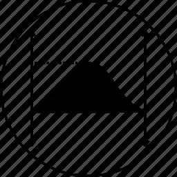 full, graph, ionized, line, positive, sine, wave icon