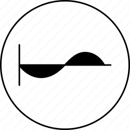 cosine, graph, line, science, sinusoid, wave icon