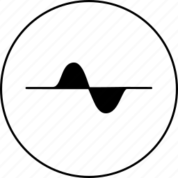cosine, graph, line, negative, positive, science, sinusoid icon