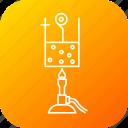 beaker, fire, heat, lantern, liquid, science, vapour icon
