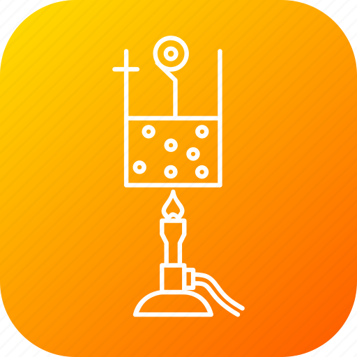 beaker, fire, heat, lantern, liquid, science, vapour icon