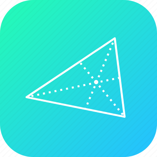 center, centroid, cross, equal, science, triangle icon