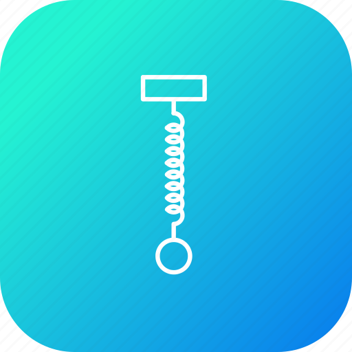 circle, flexible, hook, law, science, spring, stand icon