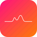electric, line, pulse, resist, resistance, wave icon