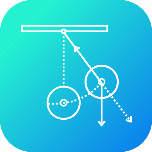 center, circle, law, pendulum, rotate, stand icon