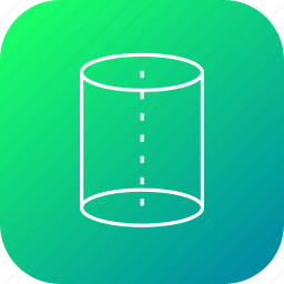 center, centroid, cylinder, cylindricle, science, tube icon