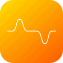 cosine, heartbit, high, law, pulse, science, wave icon