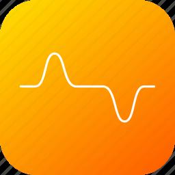 cosine, heartbit, high, law, pulse, science, wave icon