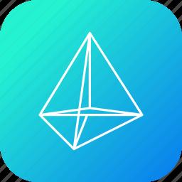 design, polygone, science, shape, triangle icon