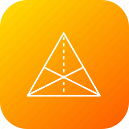 centre, centroid, equal, line, science, triangle icon