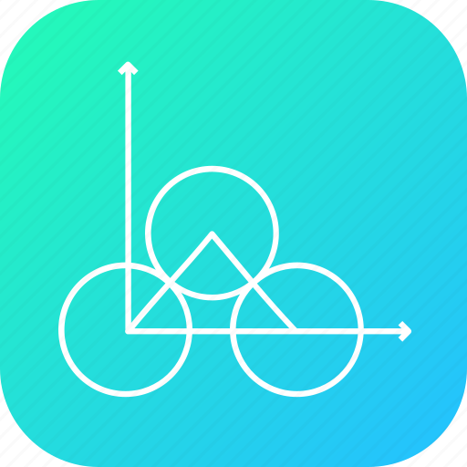 circle, connect, geomatery, graph, line, maths, triangle icon