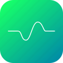 cosine, graph, line, science, sinusoid, wave icon