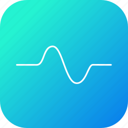 cosine, graph, negative, positive, science, sinusoid, wave icon