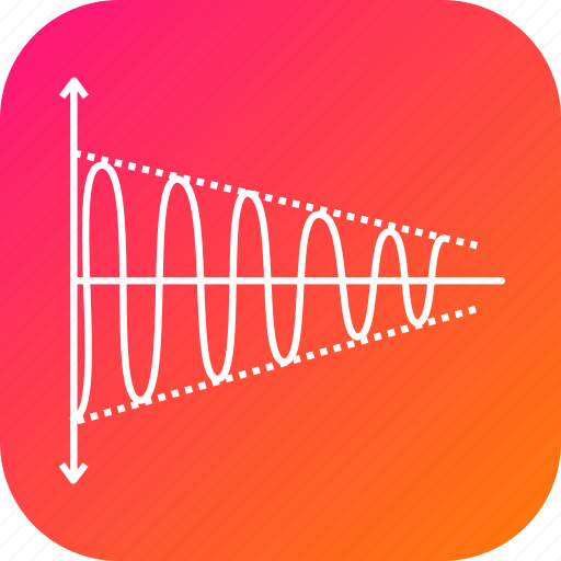 electric, electromagnetic, science, sinusoid, sinusoidal, wave icon