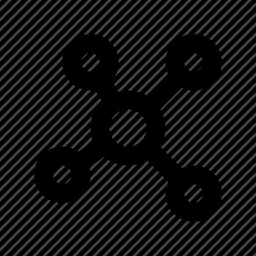 atom, atom bond, electron, molecular, science icon