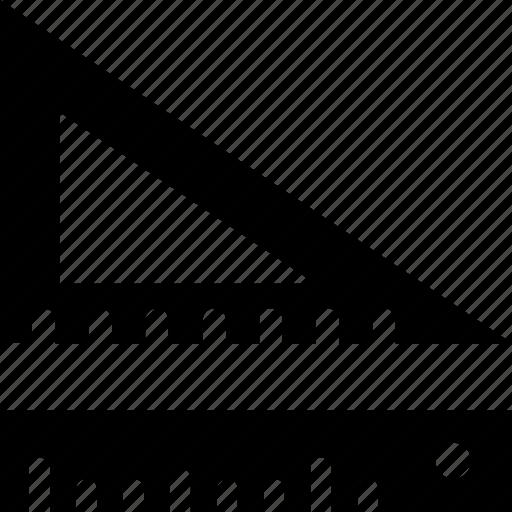 design, geometry, ruler, set square, tools icon