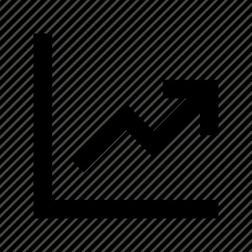 analytics, business chart, growth chart, infographic, progress chart icon