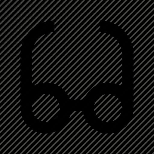eyeglasses, eyesight, glasses, shades, spectacles icon