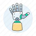 prosthetic, hand, artificial, science, prosthesis, 2, limb, futuristic, cyborg, technology, electronic icon