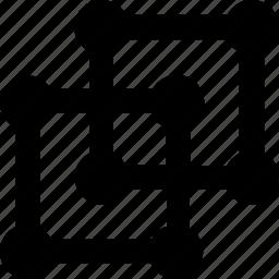 cube, molecular, overlap, shape, structure icon
