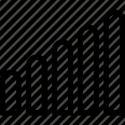 bar chart, bars, network, signal bars, signals icon