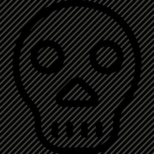 danger, death, halloween, skeleton, skull icon