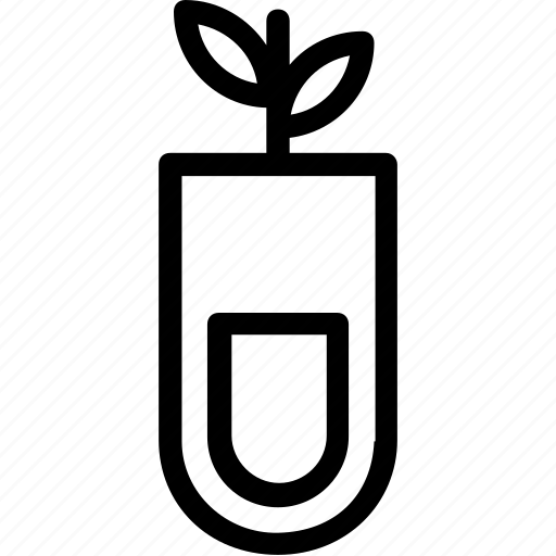 botany experiment, experiment, plant, research, test tube icon