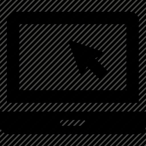click, cursor, laptop, mouse, online icon