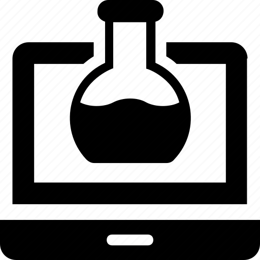 conical flask, experiment, flask, lab, study icon