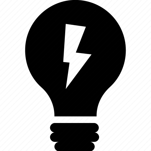 bright, bulb, electricity, light, power icon