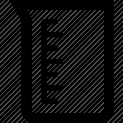 beaker, ewer, experiment, jug, measuring icon