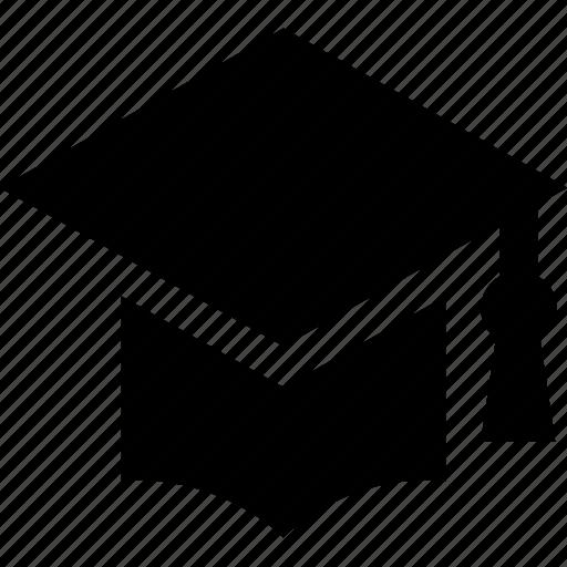 degree cap, graduate cap, graduation, mortarboard, tassel cap icon