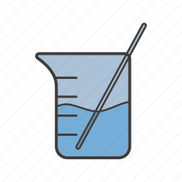 beaker, chemical vessel, glassware, lab, laboratory, measuring cup, science icon