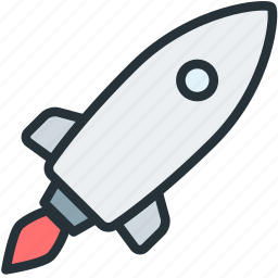 launch, rocket, science, spaceship icon