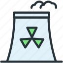 nuclear, science, station icon