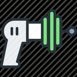 gun, pistol, plasma, science icon