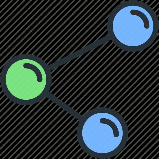 cell, link, molecule, science icon
