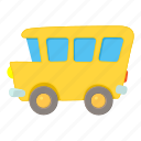bus, cartoon, education, school, student, transport, vehicle icon