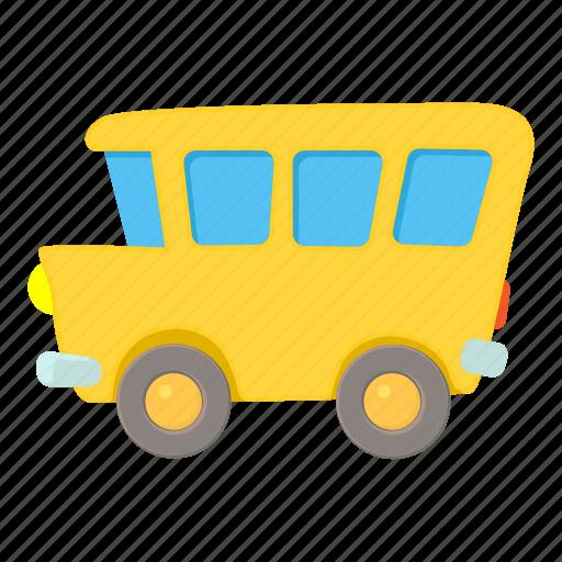 bus, cartoon, education, school, student, transport, vehicle icon