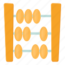 abacus, arithmetic, cartoon, count, education, mathematic, tool icon