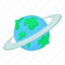 blue, cartoon, earth, globe, planet, scienceastronomy, space icon