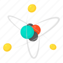 atom, cartoon, chemistry, connect, molecule, physics, structure icon