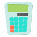 business, calculator, cartoon, math, mathematics, school icon