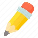 cartoon, drawing, education, eraser, pencil, school, write icon
