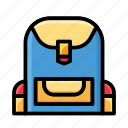 bag, education, knowledge, laboratory, school, science icon