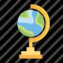 education, globe, knowledge, laboratory, research, science icon