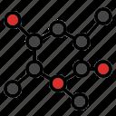 biology, molecule, science icon