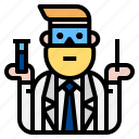 goggles, scientist, technician icon