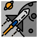 rocket, space, transport icon