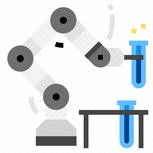 industry, lab, robot icon